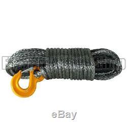 Guerrier Black Edition Corde De Treuil Synthétique Ligne 12 MM X 30 M Avec 12000 KG Mbl