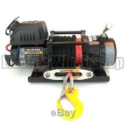 Guerrier Ninja 4500lb 12v Treuil Avec Corde Synthétique Et Treuil Couverture