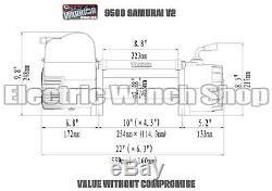 Guerrier Samurai 9500 12v Next Generation V2 Treuil Électrique Avec Corde Synthétique