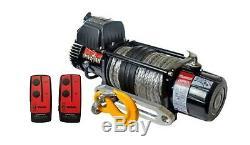 Guerrier Spartiate 12000lb 12v Treuil Avec Corde Synthétique Et Télécommande Sans Fil
