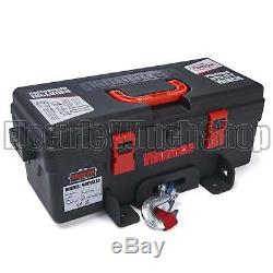Guerrier Troyen Portable 12v 4000lb / 1814 KG Treuil Électrique Corde Synthétique