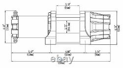 Kfi As-50 Assault Series 5000 Lb Treuil Synthétique Rope 5000 Lb Kfi Treuil L@@@k