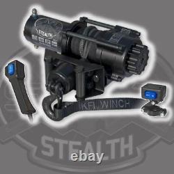 Kfi Produits Stealth Winch 3500 Lb Rope De Câble Synthétique Atv Utv Handlebar Switch