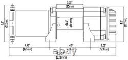 Kfi Stealth 2500 Lb Atv Utv Sxs Winch Avec Corde Synthétique Se25
