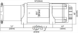 Kit De Treuil 4500 Lb Large Pour Kawasaki Teryx Krx 1000 2020 (rope Synthétique)