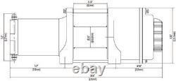 Kit De Treuil 4500 Lb Pour Can-am Maverick X3 2017-2020 (rope Synthétique)