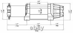 Kit De Treuil 5000 Lb Large Pour Kubota Sidekick 850 2018-2020 (rope Synthétique)