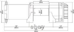 Kit Treuil 3500 Lb Pour Honda Talon 1000 (x/r) 2019-2021 (corde Synthétique)
