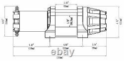 Kit Treuil 5000 Lb Pour Polaris 1000 Ranger Eps Crew 2020-2021 (corde Synthétique)