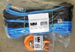 Mère Moyenne Synthétique Sk75 Dyneema 3/8 X 100' Winch Ligne Corde Withhook, 18 000 Lb