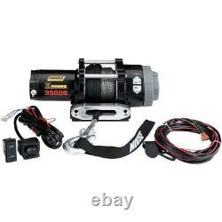 Moose 3500 Lb Aggro Utv / Atv 3500s Winch Corde Synthétique Avec Dash Commutateur