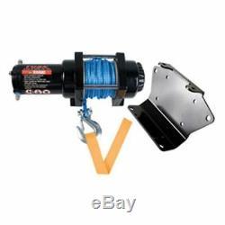 Polaris Rzr 900 1000 4 S S4 Xp Xp 4 Tusk Winch Avec Corde Synthétique Et Plaque De Montage