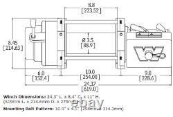 Prévenir M12-s 12 000 Lb. Treuil À 3/8 X 100 Pieds Spydura Rope Synthétique-97720