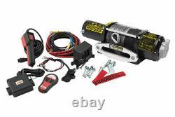 Quadboss Utv Atv 5000 Lb Pound Kit De Treuil Avec Corde Synthétique 3hp Rp5000sr-qb