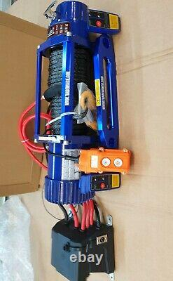 Recovery Winch Electric 13500lb 12v Truck Synthetic Rope £325.00 Inc Cuve