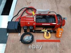Recovery Winch Electric 13500lb Truck Winch + Synthetic Rope @ £325.00 Inc Cuve