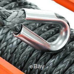 Récupération Treuil Électrique 24v 13500lb Rope Synthétique, 4x4 Voiture Heavy Duty Rhino