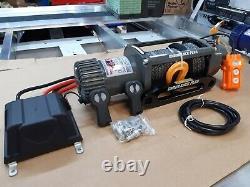 Revêtement 12v Winch 7.2hp Motor -9mm-synthetique Rope Winch@ 349,00 £ Inc T