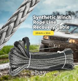 Rope De Treuil Synthétique 10mm X 30m Câble De Récupération De Ligne Extrêmement Léger Faible Étirement