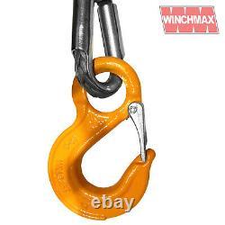 Rope De Treuil Synthétique De Qualité Supérieure Winchmax 30m X 12mm Avec Crochet De Compétition