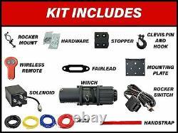 Rope Synthétique Superatv 3500 Lb. Kit De Treuil Utv/atv Black Ops Avec Télécommande Sans Fil