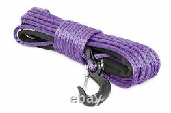 Rough Country Synthetic Winch Rope Purple Clevis Hook 3/885 Ft 16,000lbs