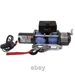 Rugged Ridge Performance 8 500 Lb De Road Winch, Prewound With Synthetic Rope