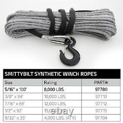 Smittybilt 97780 Rope De Treuil Synthétique Xrc