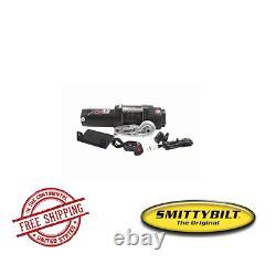 Smittybilt Vtt Xrc 3.0 Treuil De Série Comp Avec Corde Synthétique Et Plomb D'aluminium Fairlead