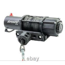 Superatv 5000lb Série Black Ops Heavy Duty Treuil Avec Corde Synthétique