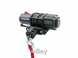 Superatv Heavy Duty 3500 Lb. Corde Synthétique Vtt Utv Treuil Avec Télécommande Sans Fil