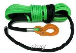 Synthétique Winch Rope Vert 100ft 11mm 11800kg Uhmwpe Auto Récupération 4x4