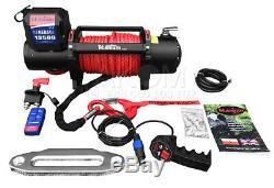 Titane Winch 13500 12v 13500 Lb / 6130 KG Haute Qualité Avec Une Corde Synthétique