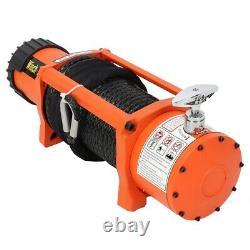 Treuil De Récupération Électrique 12v 13500lb Corde Synthétique Lourde 27m (85 Pi) 9.5mm
