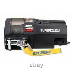 Treuil De Récupération Électrique 3000lb 12v Superwinch S3000 Corde Synthétique