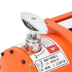 Treuil De Récupération Électrique Lourd 12v 13500lb Corde Synthétique 85 Pi Sans Fil