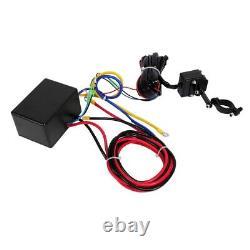 Treuil Électrique 12v, Corde Synthétique 3000b, Service Lourd 4x4, Récupération De Vtt