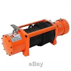 Treuil Électrique 13500lb 12v 6.0 HP / 4,5kw Corde Synthétique De Récupération À Distance Sans Fil
