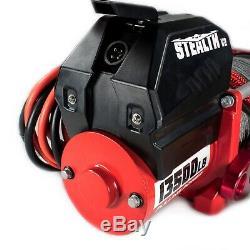 Treuil Électrique 13500lb Stealth Corde Synthétique Sans Fil 4x4 Royaume-uni Vendeur