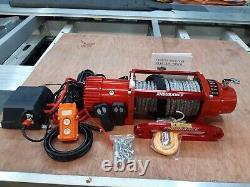 Treuil Électrique Récupération Winch &mount Plaque Avec Corde Synthétique @£365.00 Inc Cuve