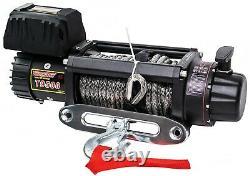 Tungstène4x4 9500 Lbs 12v Electric Winch Synthetic Rope Truck Remorque Remorque Remorque Remorquage Jeep