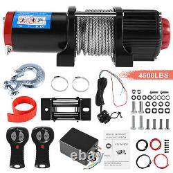 Vehpro Electric Winch 4500lb 12v Synthétique Rope 4x4/recovery Wireless