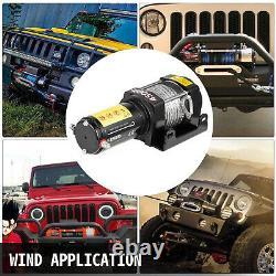 Vevor 4500lb / 2040kg 12v Treuil Électrique De Camion Avec Moteur À Corde Synthétique Pour Utv