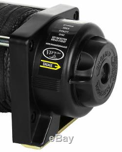 Viper 3000 Lb De Minuit Atv Utv Kit Treuil Avec 50 Pieds Noir Corde Synthétique