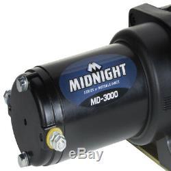 Viper 4500 Lb Minuit Vtt Utv Kit Treuil Avec 50 Pieds Noir Corde Synthétique