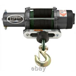 Viper Elite 4500 Lb Widespool Winch 65 Pieds Green Amsteel-blue Synthetic Rope