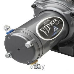 Viper Elite 6000 Lb Widespool Treuil De 65 Pieds Bleu Amsteel Bleu Corde Synthétique