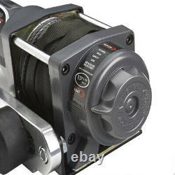 Viper Max 3500 Lb Atv Utv Treuil Kit Avec 50 Pieds Corde Synthétique Câble Sxs 4x4
