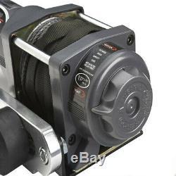 Viper Max 4000 Lb Atv Winch Utv Kit Avec 50 Pieds Corde Synthétique Câble Sxs 4x4