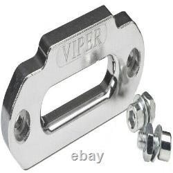 Viper Utv Treuil Midnight 4500lb 50 Pieds De Corde Synthétique Et Une Télécommande Sans Fil